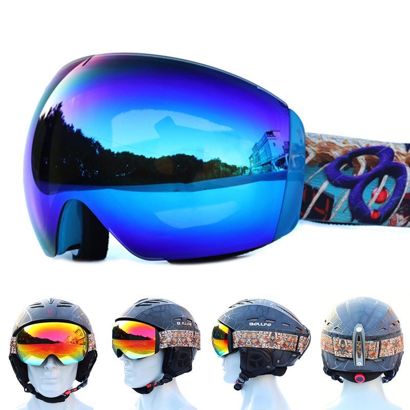 Frugal Ski Goggles Double Layers Anti-fog Big Ski Mask Glasses Skiing Men Women Snow Snowboard Goggles For Sale