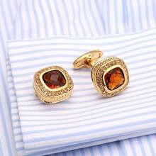 New Designer CZ Rhinestone Cuff links Trendy Shirt Gemelos cuff buttons new vintage round cufflinks men wedding party gift