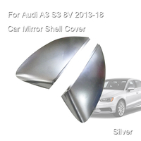 1Pair Sliver Car Mirror Shell Cover Protection Cap Matte Chrome Rearview for Audi A3 S3 8V 2013 2018 Car String