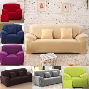 Image 1 - Чехлы для диванов дешевые хлопковые чехлы для диванов для гостиной эластичные чехлы для диванов растягивающиеся чехлы для сидений на Sofa48