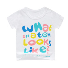 Boys Summer T shirt Print Cartoon Kids Clothing New 2019 Fashion Baby Girl Short Sleeve Cotton shirts For