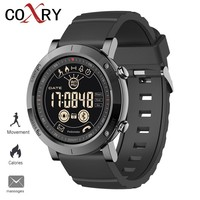 COXRY 2019 Men's Smart Watches For Men Sport Watch Man Relogio Digital LED Running Pedometer Stopwatch Silicone Wristwatch Clock