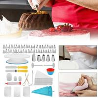 100PC DIY Pastry Cake Decorating Supplies Turntable Piping Nozzle Tips Baking Pastry Bag Set Cake Baking Tools p40