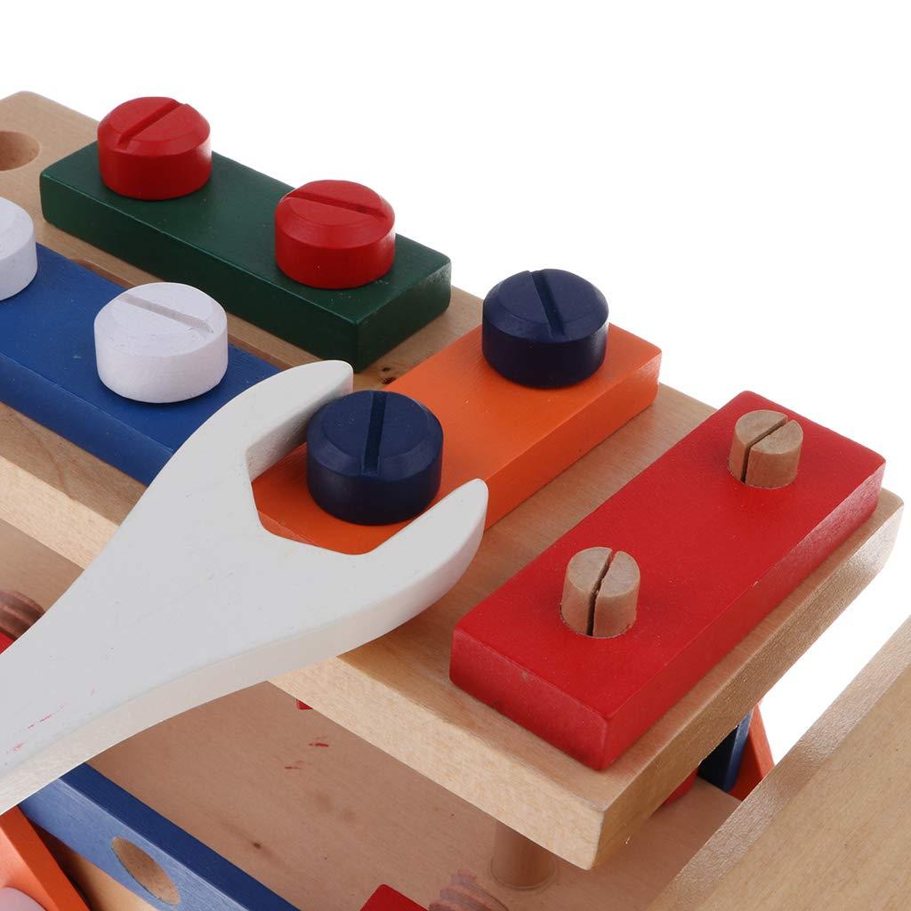 Blocs de Construction en bois jeu de Construction de voiture Coordination œil-main jouets éducatifs cadeau d'anniversaire pour enfants enfants en bas âge - 2