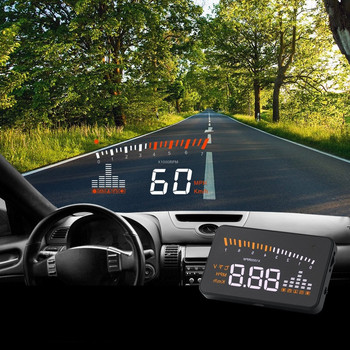 цена на Hud Display Car HUD Head Up Display Auto OBD2 Car Speedometer Projector On Windshield Driving Speed Alarm Car Gps Speedometer