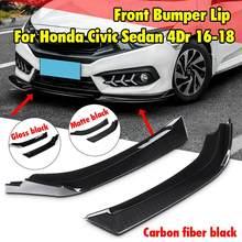 Новый 2 шт. Автомобильный Универсальный передний бампер для губ разветвитель обёрточная бумага угол разветвители Spolier для Honda Для Civic Sedan 4Dr 16-18 против царапин