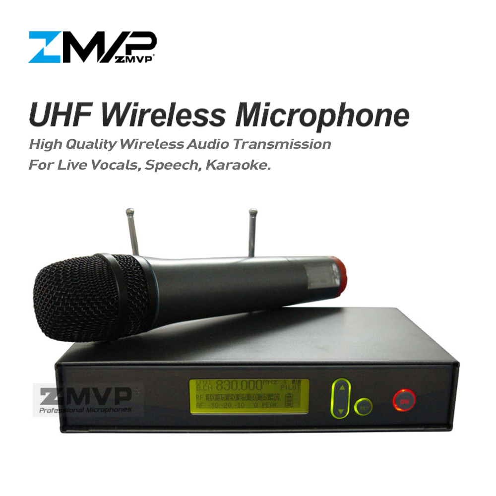 ZMVP Professional 335 G2 UHF Wireless Microphone Karaoke System with Handhold Wireless Transmitter for Live Vocals Speech Stage zmvp p24 m58 uhf professional wireless microphone system with m58 handheld transmitter mic for stage live vocals karaoke speech