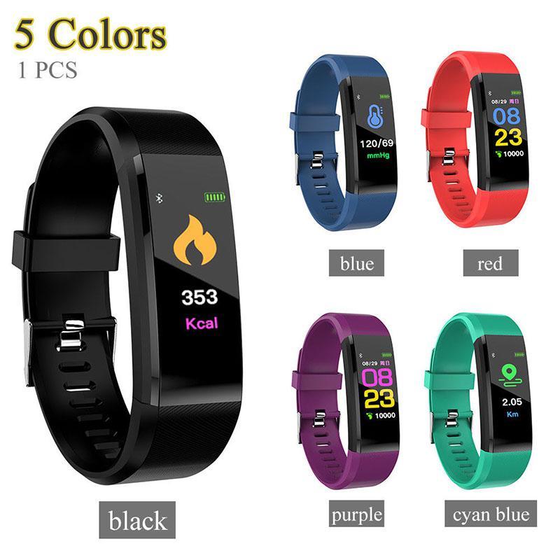 LinTimes Lovers Women Men Bluetooth Smart Watch Heart Rate Blood Pressure Monitor Fitness Tracker Bracelet
