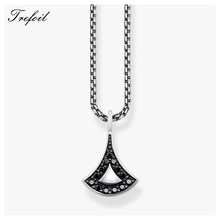 Link Chain Necklace Asian Ornament,Thomas Fashion 925 Sterling Silver Jewelry Asia Ethnic Gift For Women Girls 2018 Brand New(China)