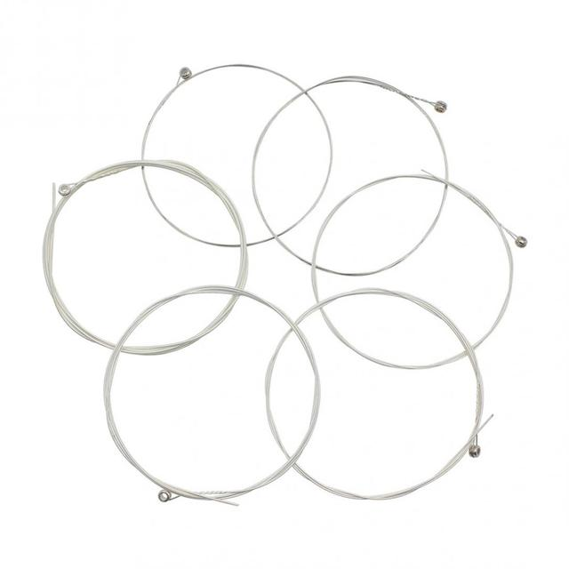 IRIN A104 Silver Plated Stainless Steel Music Instrument Strings Set Replacement for Acoustic Guitar 0.010-0.047 Inch Size 1