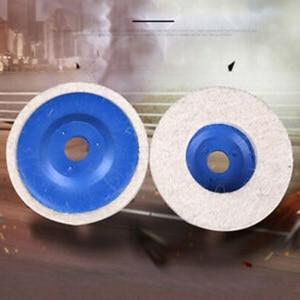 Image 3 - 1 قطعة 4 بوصة 100 مللي متر الصوف إطارات لامعة منصات التلميع زاوية طاحونة عجلة ورأى تلميع القرص للمعادن الرخام الزجاج السيراميك