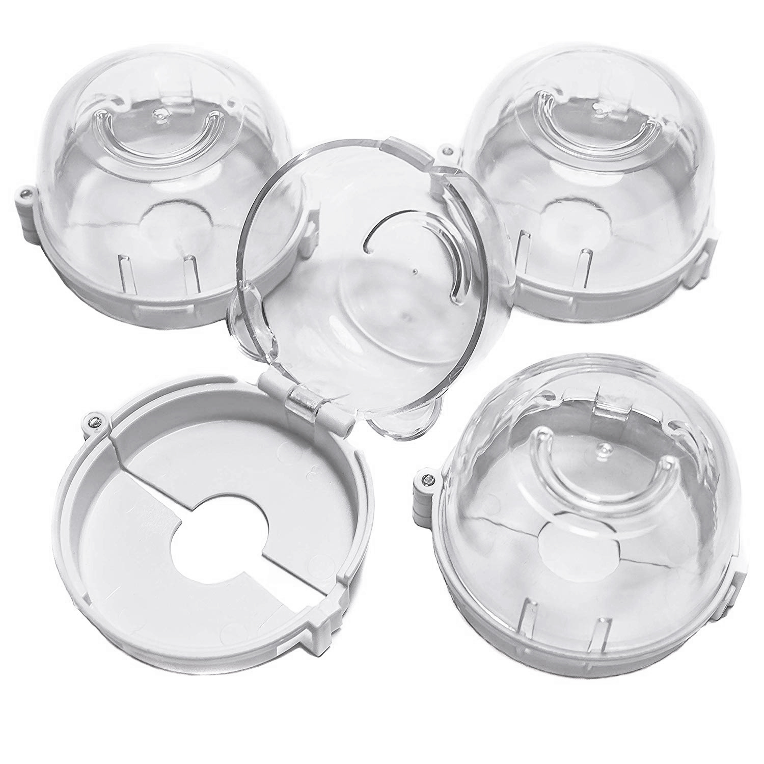 Clear Safety Oven Knobs Cover 4 Pack - Baby Proofing Protection Lock For Ovens/Stoves When Kids, Children, Toddler Around - Pr