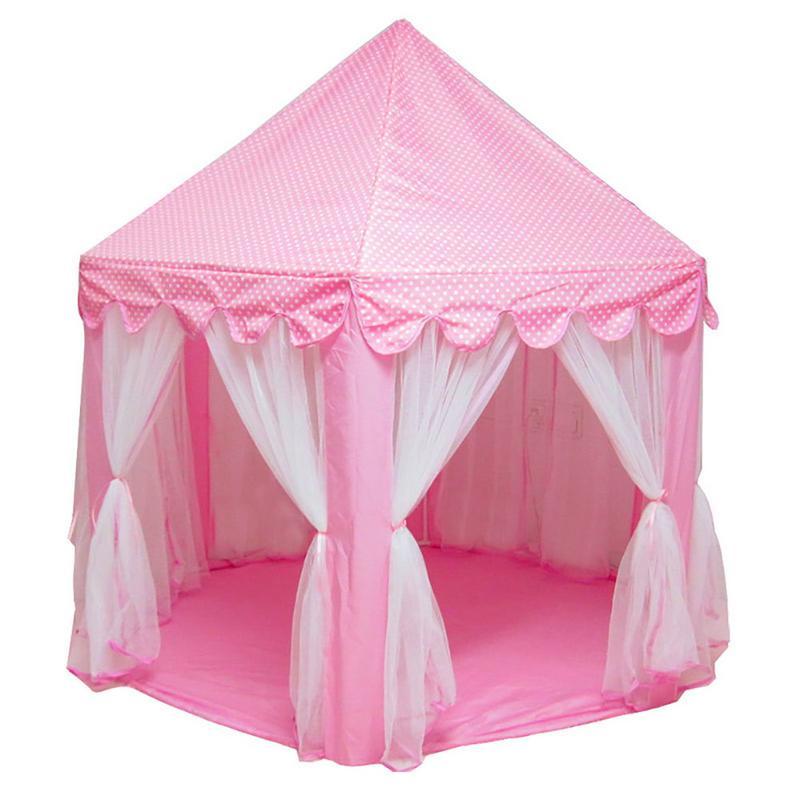 Six Angle princesse château gaze tente maison fille enfants grand intérieur extérieur jouet jeu maison enfants balle jouer tentes