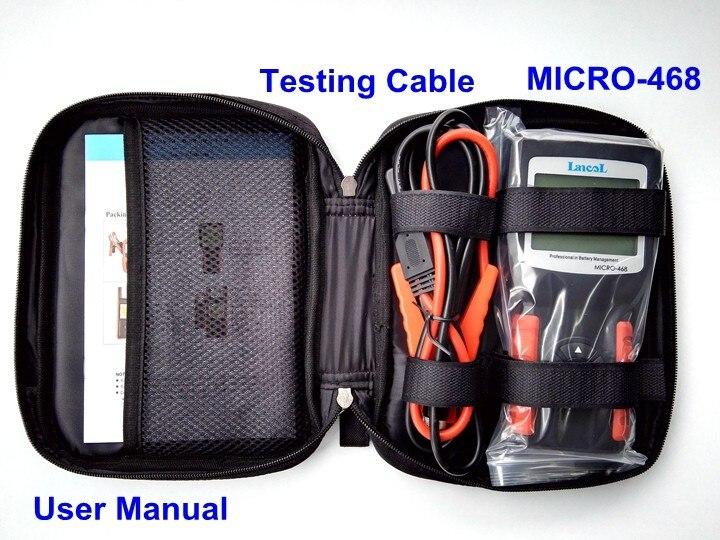 Lancol MICRO-468 Automobile Analizzatore di Batteria Conduttanza Tester Portatile 12 V Auto Digital CCA Batteria Strumento di Misura Strumento