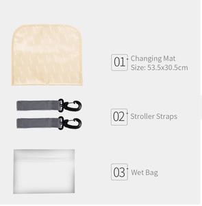 Image 5 - Insular poliéster grande mamãe papai mochila fralda do bebê saco de viagem saco de armazenamento com stroller correias mudando esteira molhada