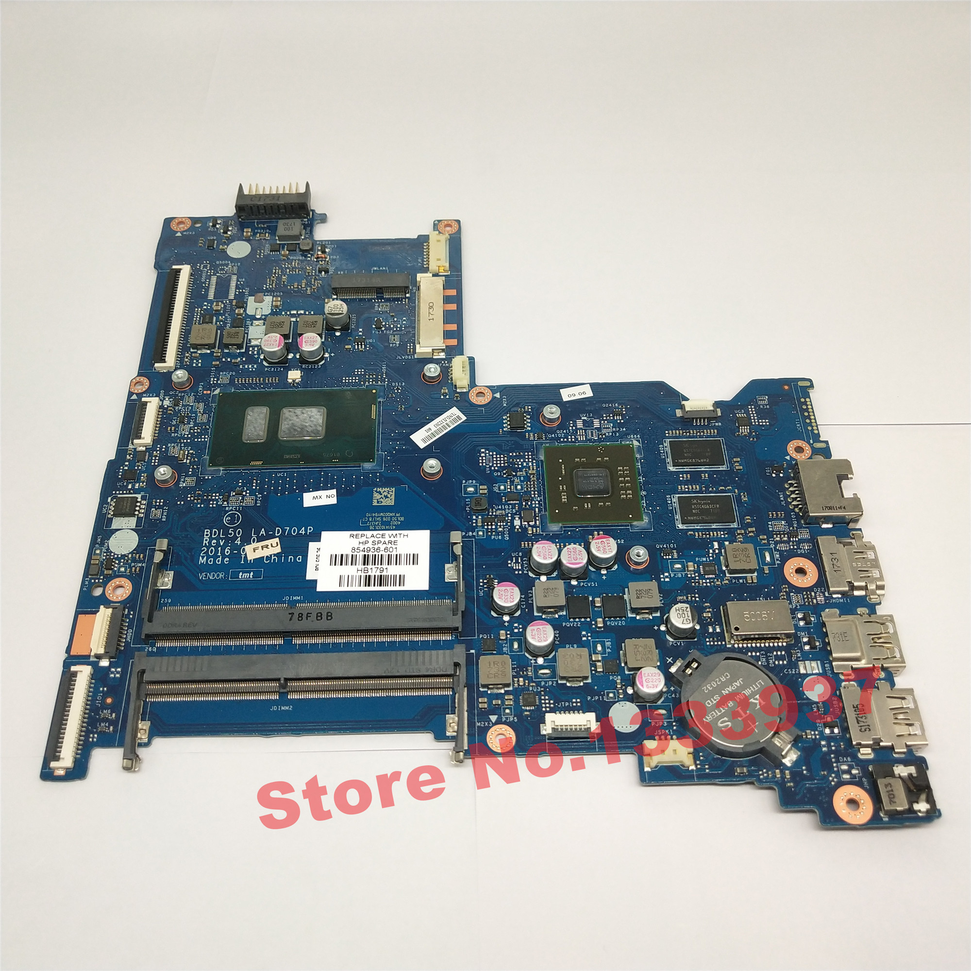 For HP Pavilion 15-AW DAG55AMB6E0 REV:E 856271-601 DDR4 Laptop Motherboard