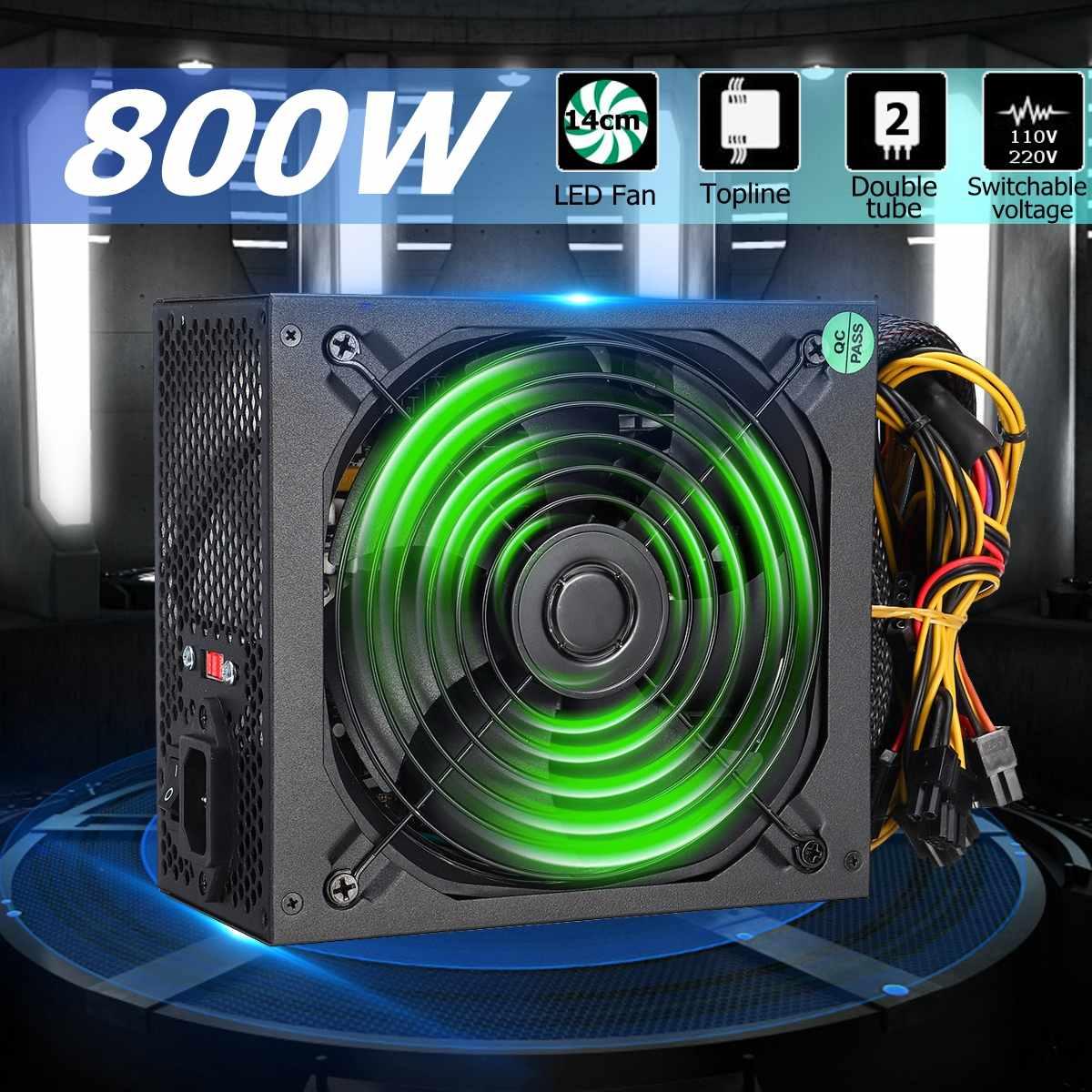 800W Power Supply 140mm LED Fan 24 Pin PCI SATA ATX 12V Computer Power Supply800W Power Supply 140mm LED Fan 24 Pin PCI SATA ATX 12V Computer Power Supply