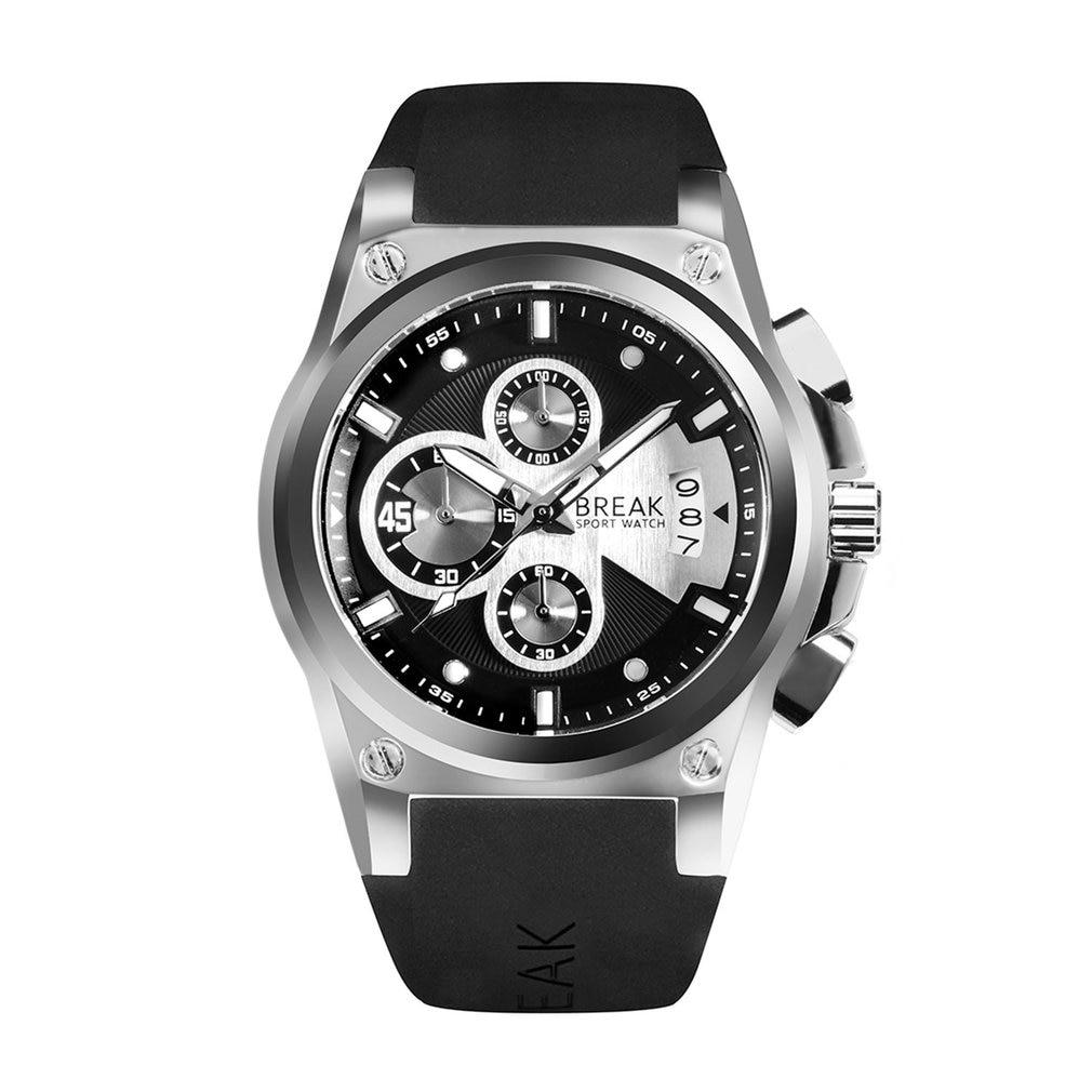 BREAK 5623 Male Chronography Sports Watches Waterproof Sports Wristwatch Casual Quartz Watch Luminous Hand Clock
