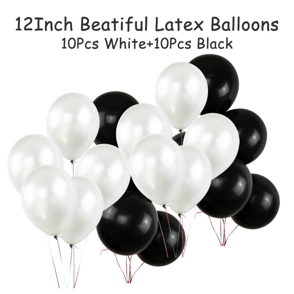 Amawill 21st BIRTHDAY DECORATIONS KIT Happy Birthday For Black Banner Foil Latex Balloons Perfect 21 Years