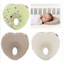 2019 caliente infantil Anti rollo forma de almohada niño posicionador para dormir cojín de cabeza plana proteger recién nacido Almohadas ropa de cama de bebé