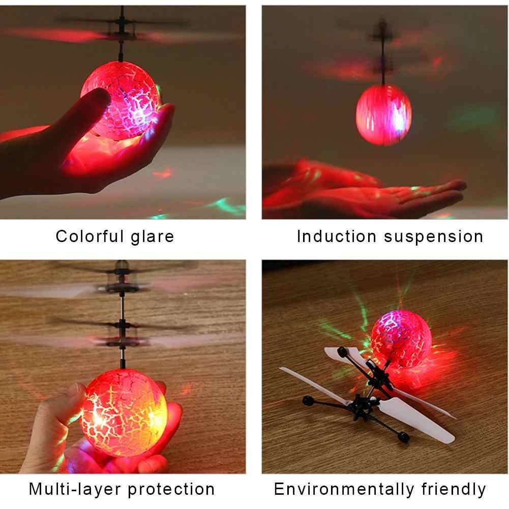 ألعاب أطفال تحلق الكرة مروحية لعبة بدون طيار الكرة المدمج في التسلق LED الإضاءة الكراك كوكب لعبة تحلق الكرة للأطفال