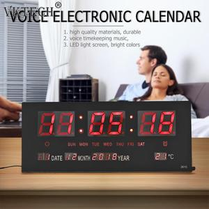 USB Digital Alarm Clock Backli