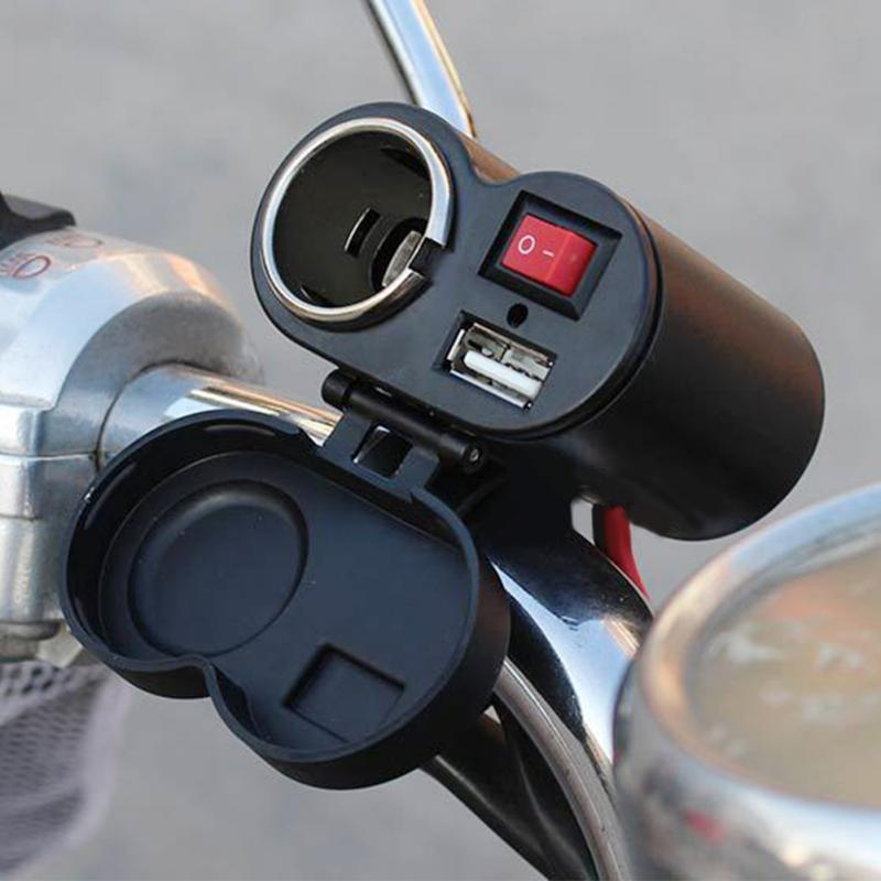New Auto Motorcycle USB Adapter Charger 12/24 V Cigarette Lighter Motorcycle Charger For Mobile GPS