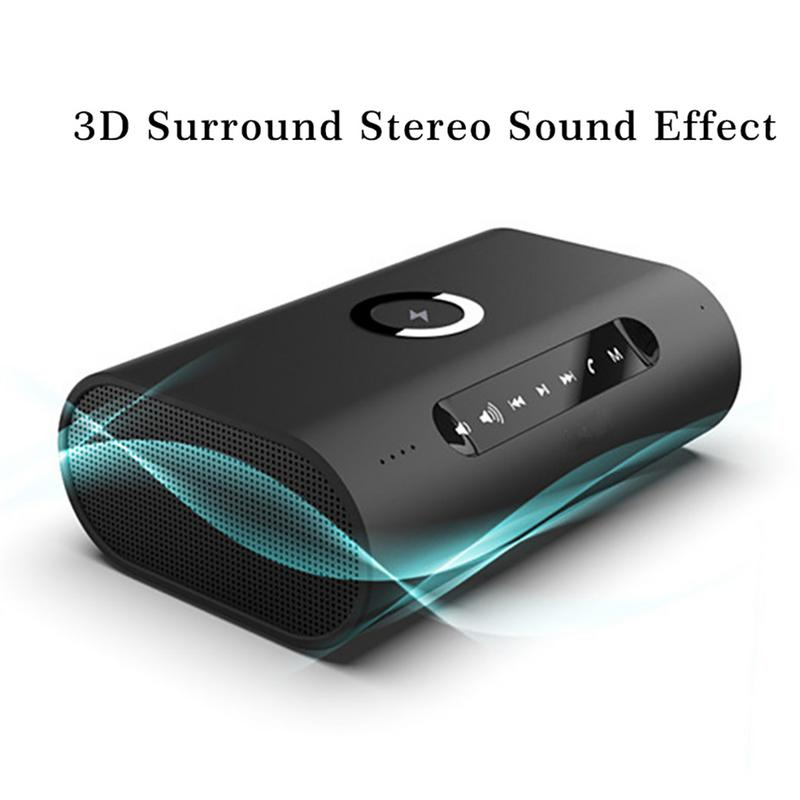 Wireless Bluetooth Speaker With HIFI Charger Dual-Speaker 3D Stereo Speaker Car Power Bank Audio Speaker For PC Call PhoneWireless Bluetooth Speaker With HIFI Charger Dual-Speaker 3D Stereo Speaker Car Power Bank Audio Speaker For PC Call Phone