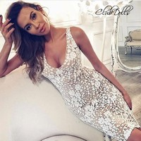 Clubdolls Hot Sexy Lace cocktail dresses Women Sleeveless Floral Print Vest vestidos coctel Party Dress vestido de festa curto