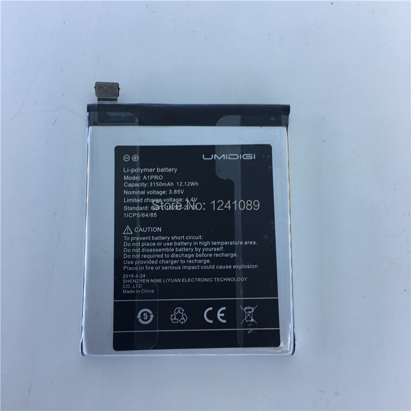 Mobile phone battery for UMIDIGI A1 pro battery 3150mAh Long standby time Gift dismantling tool for UMIDIGI Mobile Accessories in Mobile Phone Batteries from Cellphones Telecommunications