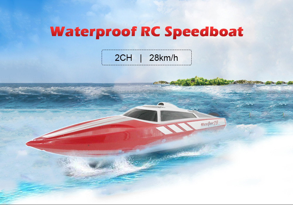 VOLANTEXRC 795-1 bateau RC étanche 28 km/H haute vitesse 7.4 V 2.4G 2CH porte jouet d'eau automatique Flip Over RC bateaux jouets cadeaux