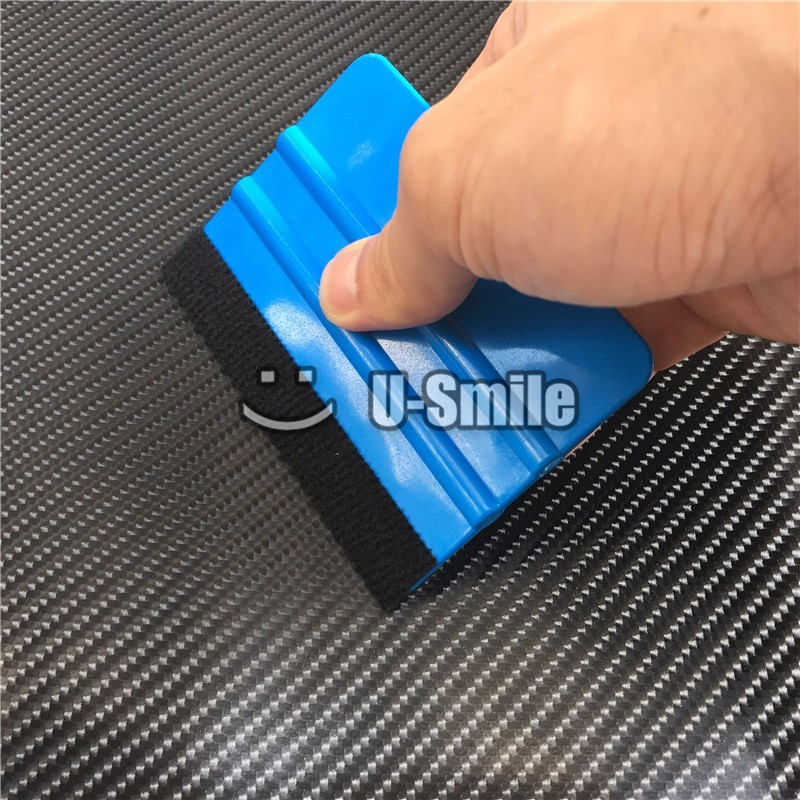 100 pcs Lot Car Application Tools Soft Flexible Squeegee Car Wrapping Tools Felt Scraper Window Film