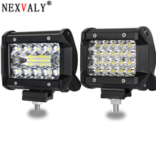 NEXVALY 2PC 4 Inch LED Light Bar Spot Flood Combo Beam Offload Work 60W Triple ROW Cubes Driving Fog Lamps For SUV ATV