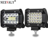 NEXVALY 2PC 4 Inch LED Light Bar Spot Flood Combo Beam Offload Work Light 60W Triple ROW LED Cubes Driving Fog Lamps For SUV ATV