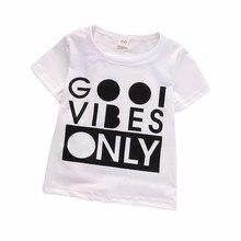 2019 New Boys Girls Short-sleeved T-shirt Summer Shirt Children's Baby Cotton Kids Children Clothing Letters Printing T-shirt цена и фото