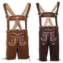 German Oktoberfest Costume Mens Bavarian Lederhosen Shorts Trachten Garments