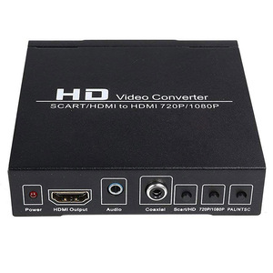 Image 2 - Top Deals PAL / NTSC SCART and HDMI to HDMI Video Converter Box 1080P Upscaler with 3.5mm and Coax Audio Output for Game Console
