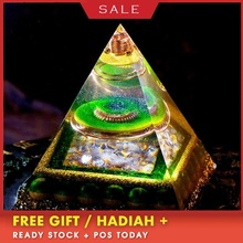AURA REIKI Orgonite Aura Crystal Pyramid Feng Shui Decoration Crafts Accumulate Wealth Energy Converter Resin Decorative Jewelry aura reiki orgonite pyramid aochen energy tower pyramid crystal decoration love gathering home resin decorative craft jewelry