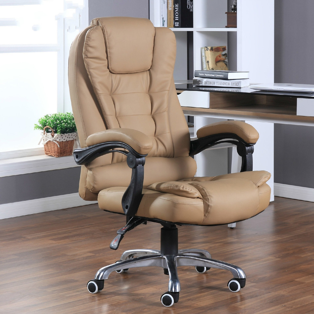 Household Can Motor-driven Massage To Work In An Leather Office Rotating Lift Main Sowing Computer Chair
