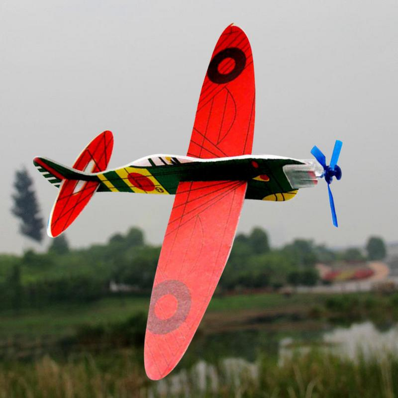 1pcs Hand Launch Throwing Airplane Glider Aircraft Inertial Foam Toy Children Plane Model Outdoor Fun toy