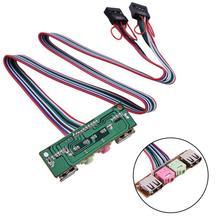 все цены на Computer Cables & Connectors Case Front USB/ Audio Front USB Plug Front Guard Cables & Connectors