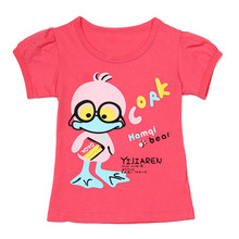Baby Girls T-Shirts Summer Short Sleeve Baby Clothing Cotton Tee Tops Cute Cartoon  Printed  Clothes Kids T-Shirt стоимость