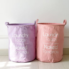 hot deal buy kids toy storage basket foldable laundry bag basket bathroom organizer large cotton linen dirty clothes baskets