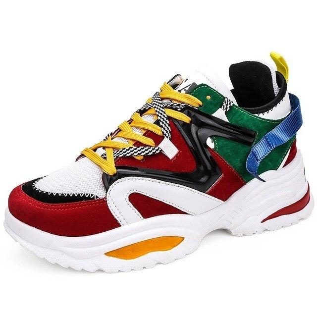 Giày Nam Giới thường Thở Sneakers cao chất lượng người lớn Masculino Mới Xu Hướng Thời Trang Giá Rẻ Lace Up Màu Sắc phù hợp với Zapatilla