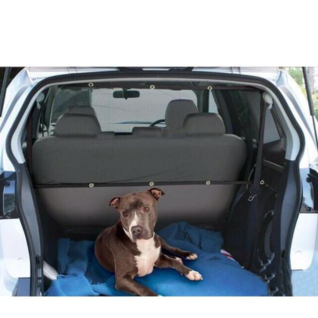 Photo : Exemple d'utilisation du filet de séparation de coffre pour chien