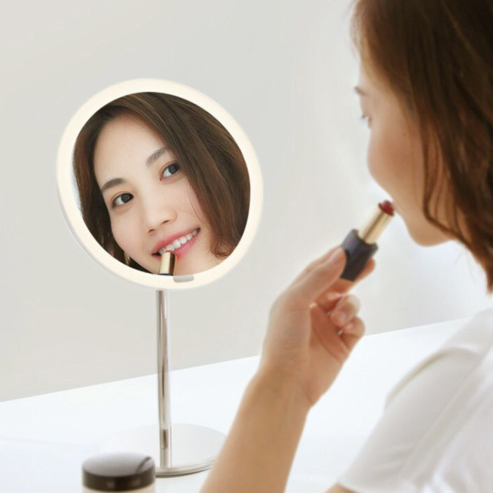Portable LED Makeup Mirror Light For Table Decoration LED Lighted Makeup Mirror For Women Makeup Tool fluffy short anti alice hair synthetic fashion mixed color anime matoi ryuuko cosplay wig