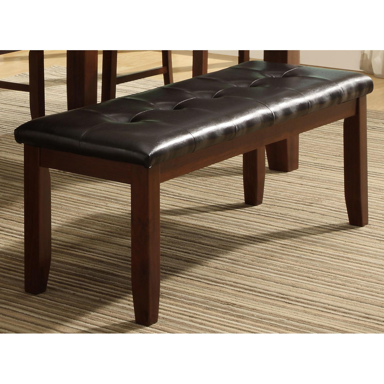 Us 147 11 Wood Based Leather Tufted Bench In Dark Brown In Living Room Chairs From Furniture On Aliexpress Com Alibaba Group