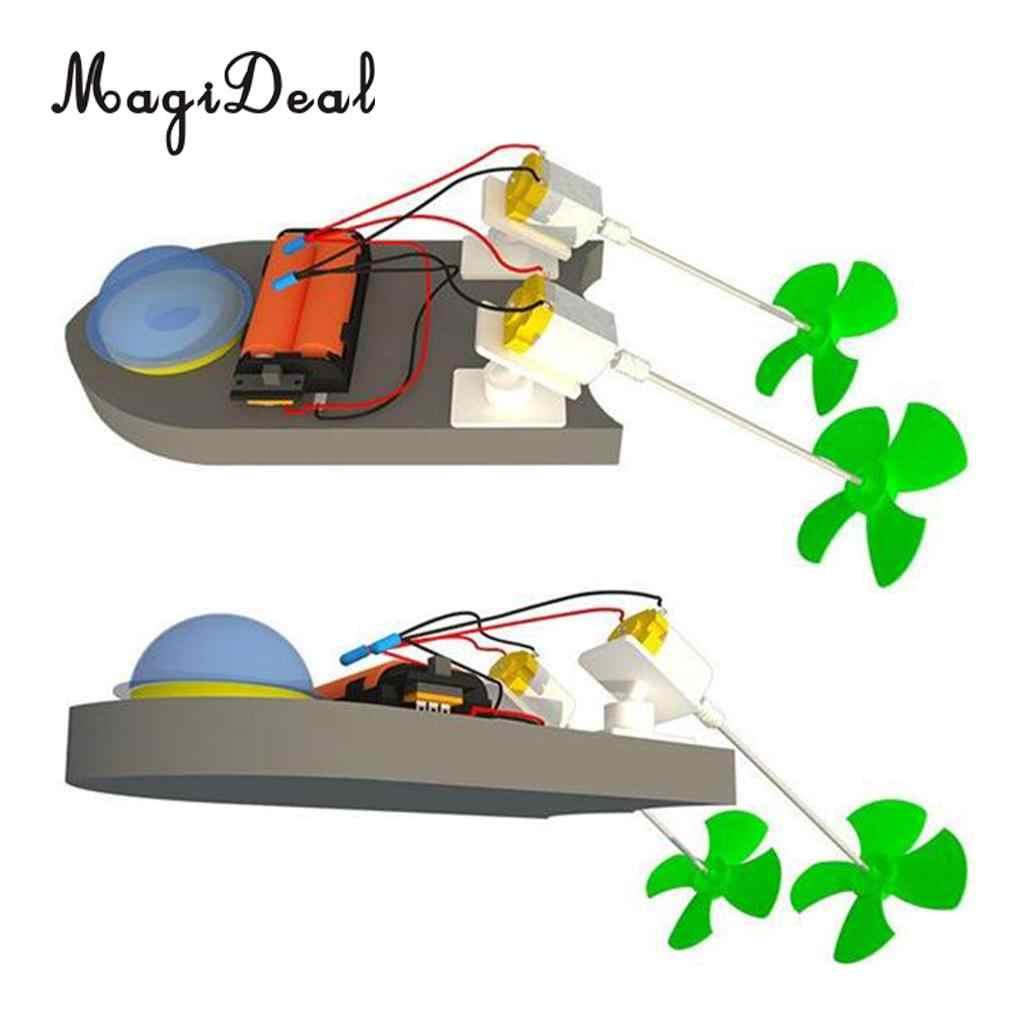 Nauka technologia DIY RC łódź wyścigowa zestaw klocków eksperyment naukowy materiały zabawki edukacyjne dla dzieci