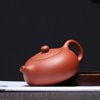 230ml Yixing Xi Shi pot lock water Pottery Teapot Flat Xi Shi Kettle Power Faction Artist Full Manual Make Teapot Tea Deliver