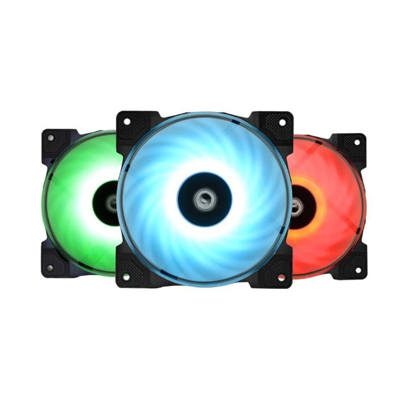 3 pièces DF-12025-RGB TRIO RVB 4Pin à Température Contrôlée Ventilateurs De Refroidissement Refroidisseur pour PC coque d'ordinateur 56.5CFM 2000 TR/MIN Télécommande